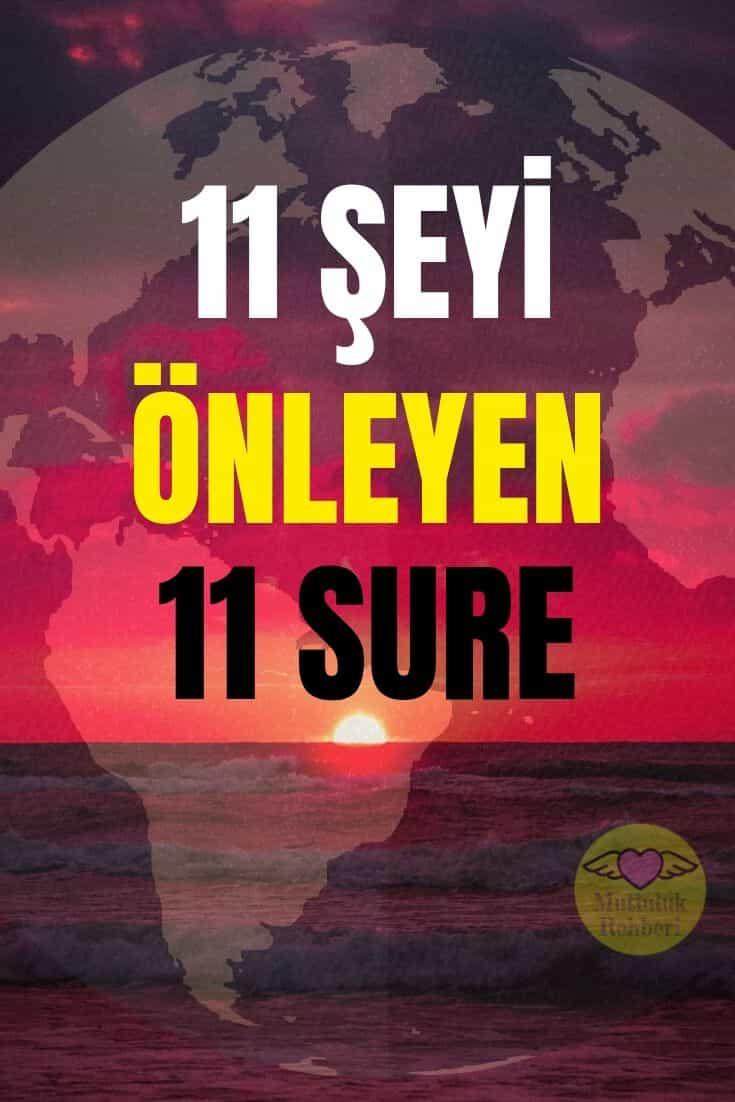 ŞU 11 ŞEYİ ENGELLEYEN, KURAN'DAN 11 SURE