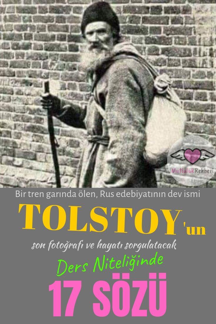 TOLSTOY'DAN DERS GİBİ MUHTEŞEM 17 SÖZ